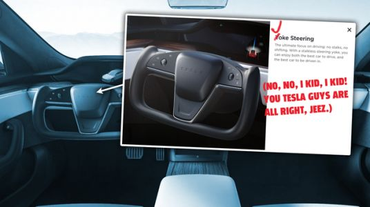 Real-World Video Of The Tesla Yoke Steering Wheel Is As Bad As You Think