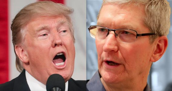 President Trump says Apple CEO Tim Cook is the only tech executive who actually calls him directly