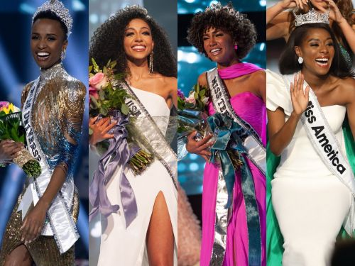 The 2019 titleholders of Miss Universe, Miss USA, Miss Teen USA, and Miss America are all women of color