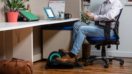 Get a Workout at Work With This Calorie-Counting Under-Desk Elliptical