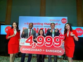 AirAsia launches direct flights from Ahmedabad to Bangkok