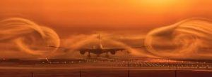 Wake turbulence warning for airlines at Sydney Airport