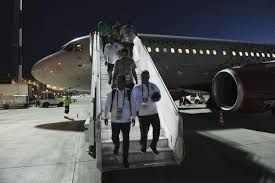Flames billow out of Saudi plane carrying footballers, none hurt