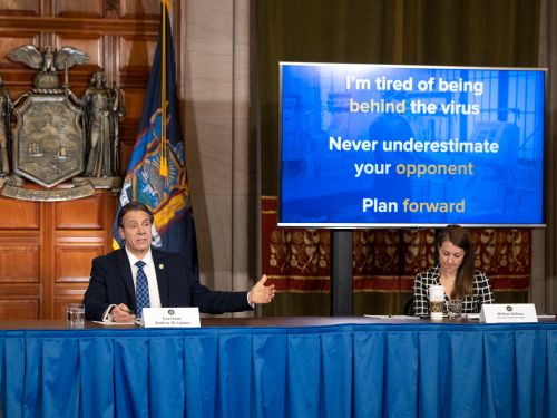 How New York Governor Andrew Cuomo became a national icon of PowerPoint prowess - and comedy