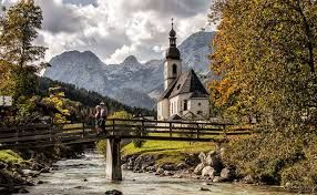 Ramsau, Germany a mountaineering village destination for tourists