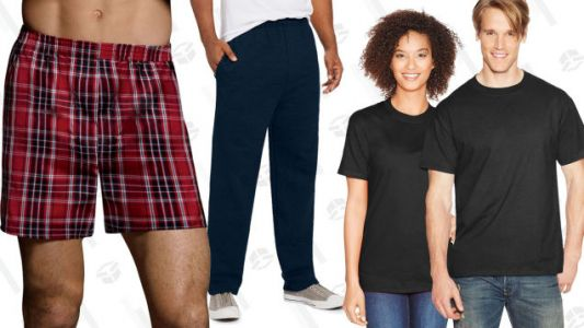 Stock Up on Underwear, T-Shirts, Sweats, and More With 20% Off Sitewide at Hanes
