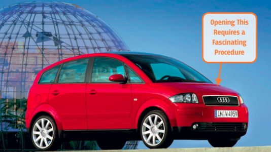 The Way You Open the Hood of An Audi A2 is Totally Bizarre