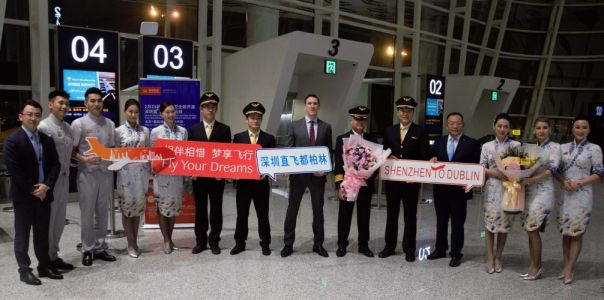 Tourism Ireland welcomes inaugural Hainan Airlines flight from Shenzhen to Dublin
