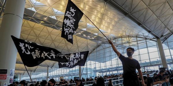 Video: Hong Kong protesters belt out 'Do You Hear The People Sing?' from 'Les Misérables' during airport takeover