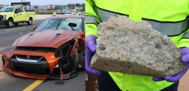 Nissan GT-R Driver Killed After Concrete Chunk 'Likely' Thrown From Nashville Bridge Crashes Through His Windshield