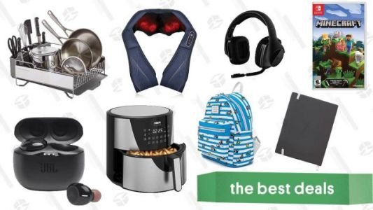 Friday's Best Deals: New iPad Air, Minecraft on Switch, Ghost Paper Notebooks, Apple Watch Series 6, KitchenAid Dish Rack, Naipo Shiatsu Massager, and More