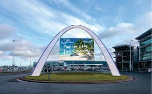 Welcome Arch Installed At Newcastle International Airport