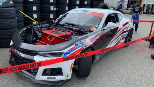 This Totally Awesome Electric Drift Car Can't Compete at the Long Beach Formula Drift Weekend For a Silly Reason
