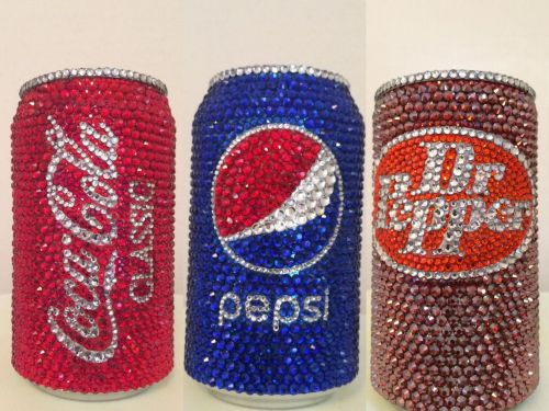 You can buy rhinestone-bedazzled cans of Coke, Pepsi, and Dr Pepper for $70 a piece