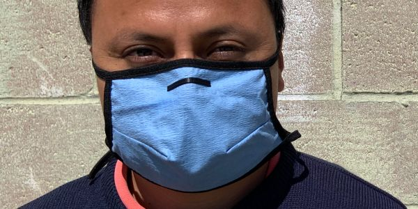 Using blue shop towels in homemade face masks can filter particles 2x to 3x better than cotton, three clothing designers discover after testing dozens of fabrics