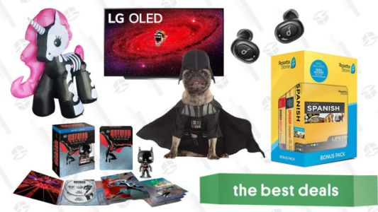 Tuesday's Best Deals: LG CX 55-inch 4K OLED TV, Rosetta Stone, Halloween Pet Costumes, Inflatable Skeleton Unicorn, Batman Beyond Blu-ray Set, and More