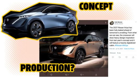 The 2021 Nissan Ariya Electric Crossover Looks Just Like The Concept If This Leak Is Accurate