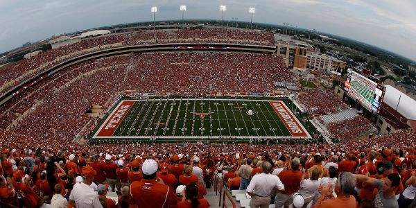 The University of Texas is giving its football stadium a face-lift, but people are saying the new 'Longhorn patio' looks like the female reproductive system