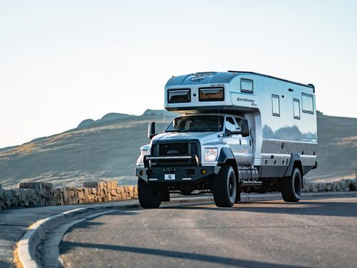 This $1.7 million camper van built on a Ford F-750 can sleep 6 people and go off-road in any season - see inside