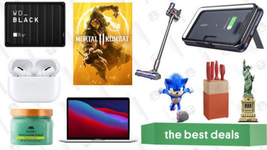Tuesday's Best Deals: AirPods Pro, Aukey Wireless Power Bank, Mortal Kombat 11, LEGO Architecture Statue of Liberty, Dyson V7 Animal, Tree Hut Sale, and More