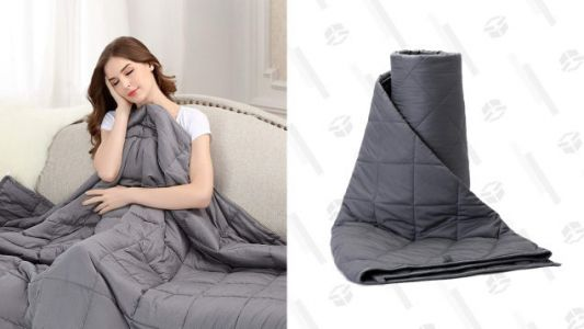 Squish Your Anxieties With These Discounted Weighted Blankets