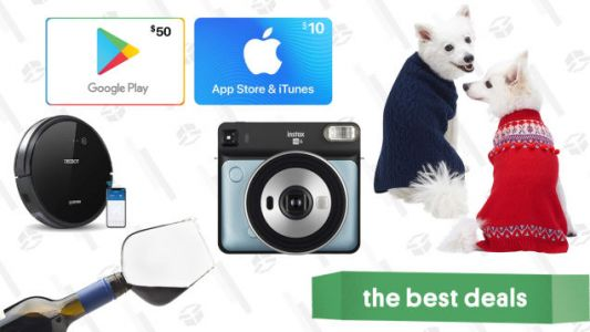 Saturday's Best Deals: Discounted Gift Cards, Robotic Vacuums, Protein Powder, and More