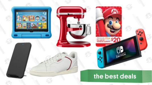 Tuesday's Best Deals: Nintendo Switch, Amazon Fire HD Kids Tablets, eShop Gift Cards, Adidas Sneakers, KitchenAid Professional Mixer, and More