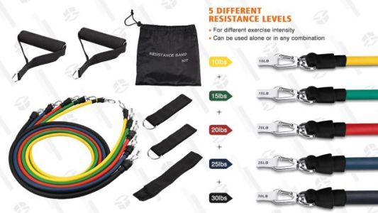 Get a Workout at Home or In a Hotel Room With This $13 Resistance Band Set