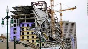 Hard Rock Hotel under construction collapses in New Orleans, 1 dead and 18 injured
