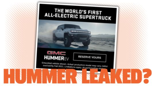 2022 Hummer EV Supertruck Mistakenly Leaked In Online Ad