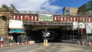 Reminder of Road Closures for Restoration of Manchester City Centre Railway Bridges