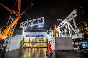 Big Lift For Queen Street As Structural Steelwork Begins