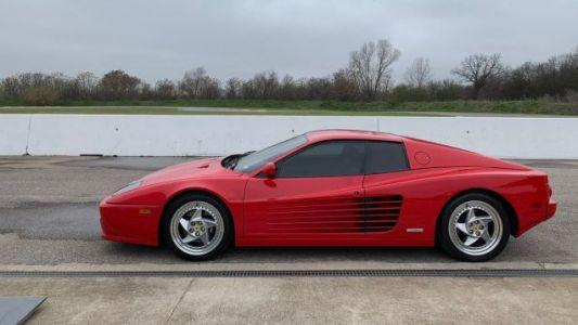 The skies over Driveway Austin are grey, but the Ferraris are as red as ever