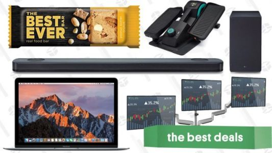 Friday's Best Deals: Atmos Sound Bar, Protein Snacks, Discounted MacBooks, and More