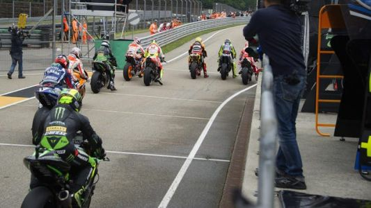 Relive One Of The Weirdest MotoGP Starts Of All Time