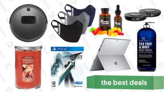 Thursday's Best Deals: Surface Pro 7, Final Fantasy VII Remake, Yankee Candles, Botanic Hearth Shower Products, Sunday Scaries CBD Edibles, and More