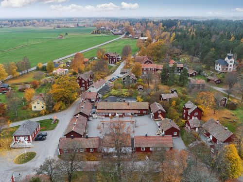 An entire 18th-century Swedish village is selling for $7 million. Here's a look inside the historic spa town