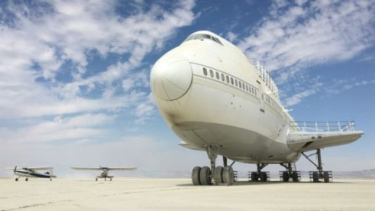 Burning Man's Boeing 747 Is Stuck in the Nevada Desert