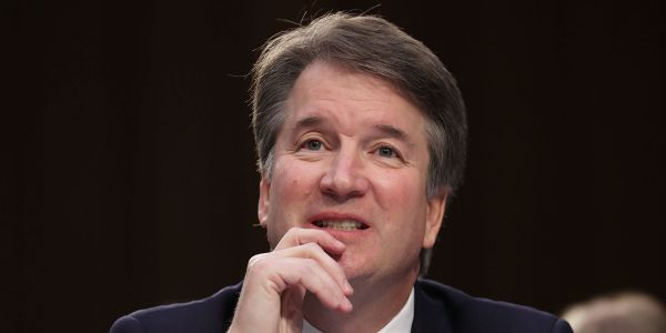 A 2015 clip of Brett Kavanaugh joking about his days at an elite high school has resurfaced and is going viral
