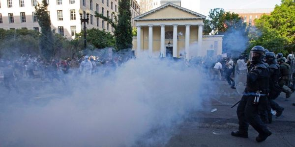 Trump claims the pepper balls and smoke canisters police fired at peaceful protesters aren't tear gas. The CDC disagrees