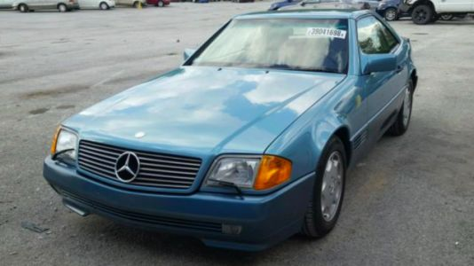 This 1,180-MileMercedes 500 SL Was Stolen Before It Became a Barn Find